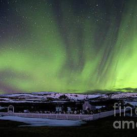 Matt Tilghman - Fire in the Iceland Sky - Aurora Borealis over Hvammstangi