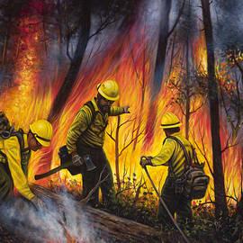 Fire Line 2 by Ricardo Chavez-Mendez