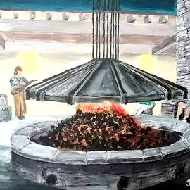 Irving Starr - Fire pit at the Lawrence Welk Resort