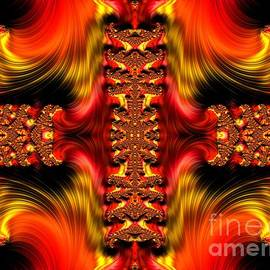 Rose Santuci-Sofranko - Fire Purifying Gold Fractal Abstract