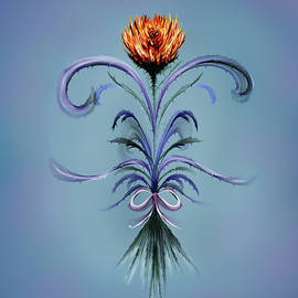 Deb Bailey - Abstract Fire Thorn Flower