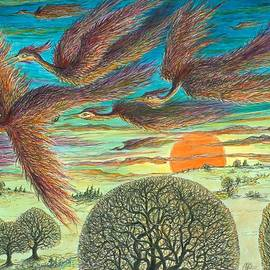 Charles Cater - Firebirds At Sunset