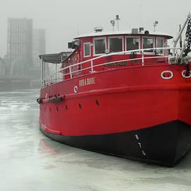 David T Wilkinson - Fireboat in Winter Fog