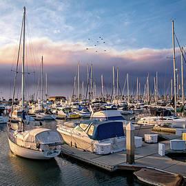 Lynn Bauer - Firelight at Ventura Harbor