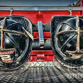 Paul Ward - Fireman Helmets on the Truck
