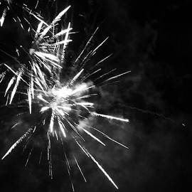 Fireworks In Black And White 5 by Kelly Hazel