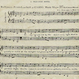 American School - First edition of the sheet music for The Star Spangled Banner