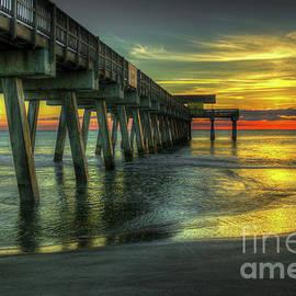Reid Callaway - First Light Tybee Island Pier Seascape Art