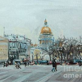 Kate Kozlova - First lights on the Palace square.