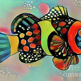 Fish Print Two by Nina Silver