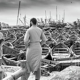 Rene Triay Photography - Fishermen of Essaouira Marrakesh BW