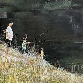 Sophia Corridon - Fishing At Lake Anne