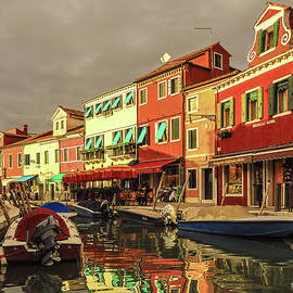 Fishing Boats In Colorful Burano by Tim Kathka