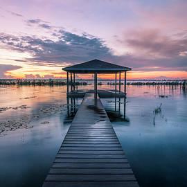 Fishing Dock before Dawn by Debra and Dave Vanderlaan