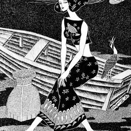 Xueping Zhang - Fishing Girl