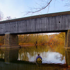 Fishing in Tyler State Park in Autumn by Bill Cannon