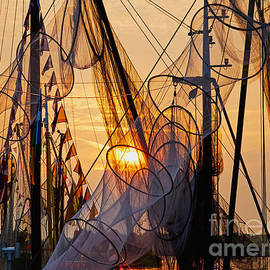 Fishing Nets During Sunset by Nick  Biemans
