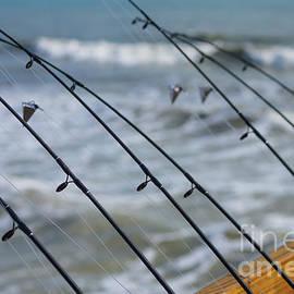 Jennifer White - Fishing Poles Abstract