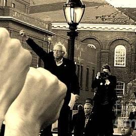 Fists Up, Bernie Sanders, New Haven, CT by Dani McEvoy