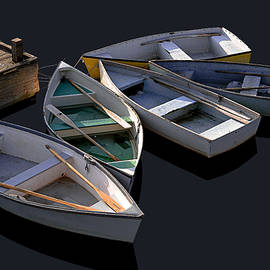 Five Dinghies by Marty Saccone