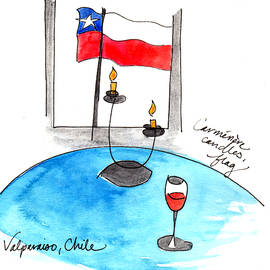 Flag And Wine by Anna Elkins