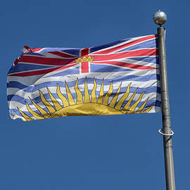 Flag British Colombia by Patricia Hofmeester
