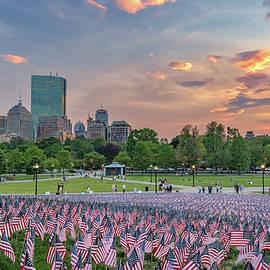 Kristen Wilkinson - Flag Sunset on Boston Common