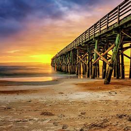 Flagler Beach Pier at Sunrise in HDR