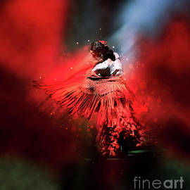 Flamenco Dancer in Red by Mary Machare