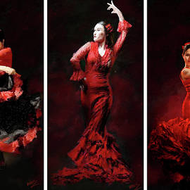 James Shepherd - Flamenco Frills Triptych