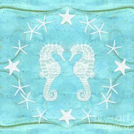 Flamingo Beach 2 - Seahorse N Starfish by Audrey Jeanne Roberts