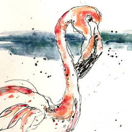 Flamingo Pool by Norma Gafford