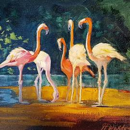 Flamingos by Judy Fischer Walton