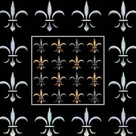 Barbara Chichester - Fleur de Lys Black Silver Gold