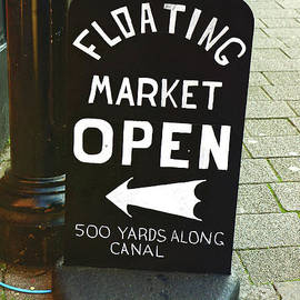 Floating market sign - Tom Gowanlock