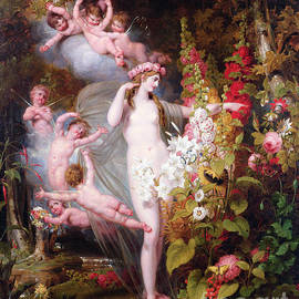 Flora unveiled by Zephyrs - Richard Westall