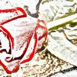 Catherine Lott - Floral Rose Fragmented Art