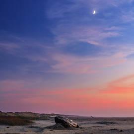 James Eddy - Florence Beach Twilight Moon