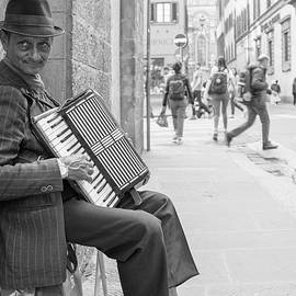 Florence Italy Street Performer  by John McGraw