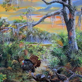 Florida Osceola turkeys- Headed to Roost