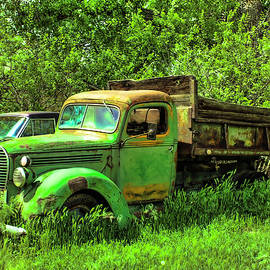 Flourescent Green Truck by Lorraine Baum