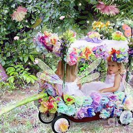 Lise Winne - Flower Fairies in a Flower Mobile
