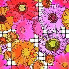 Susan Lafleur - Flower Grid Abstract