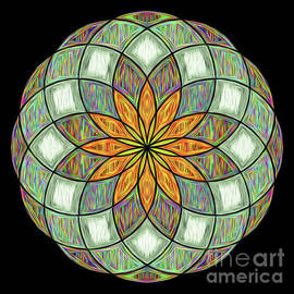 Flower Mandala Painted by Kaye Menner