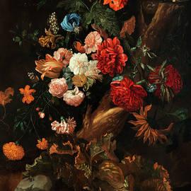 Ernst Stuven - FLOWER PLOT WITH Gelbbauchunke AND SNAKE