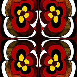 Omaste Witkowski - Flowering Fantasies Abstract Bliss Art by Omashte