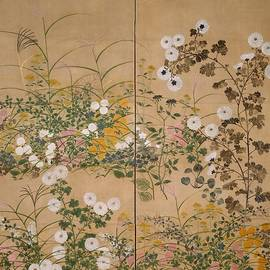 Flowering Plants In Autumn by Ogata Korin