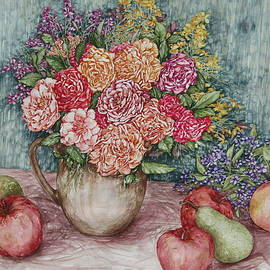 Kim Tran - Flowers and Fruit Arrangement