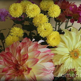 Fall Flowers From My Garden by Dora Sofia Caputo
