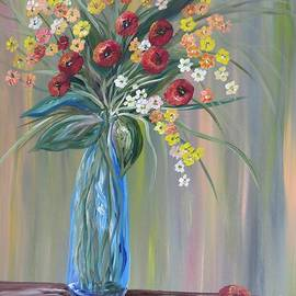 Eloise Schneider - Flowers in a Blue Vase Soft Focus